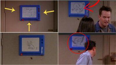 Friends : les messages cachés derrière le tableau de Joey et Chandler