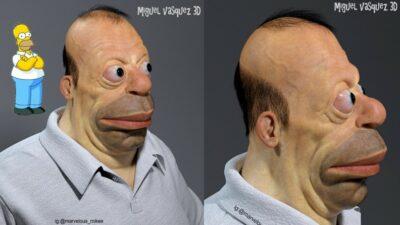 Les Simpson : un fan a créé le visage de Homer dans la vraie vie et c'est TERRIFIANT