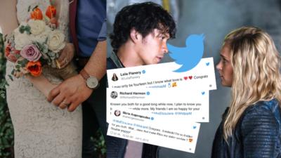 The 100 : les réactions du casting après le mariage de Bob Morley et Eliza Taylor