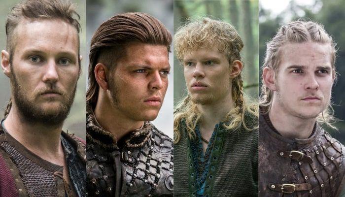 Ubbe, Ivar, Sigurd et Hvitserk - Vikings