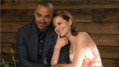 Grey's Anatomy : une première photo des retrouvailles de Sarah Drew (April) et Jesse Williams (Jackson)