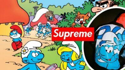 Alerte ! Supreme dévoile sa collection de fringues dédiée aux Schtroumpfs