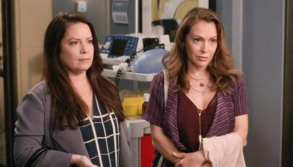 Alyssa Milano et Holly Mary Combs Grey's Anatomy
