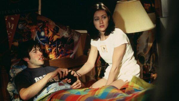 couples cinéma Shannen Doherty et Jason Lee