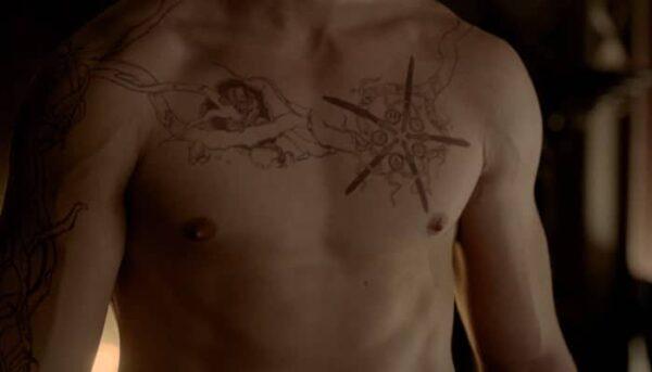 the vampire diaries, tatouage jeremy
