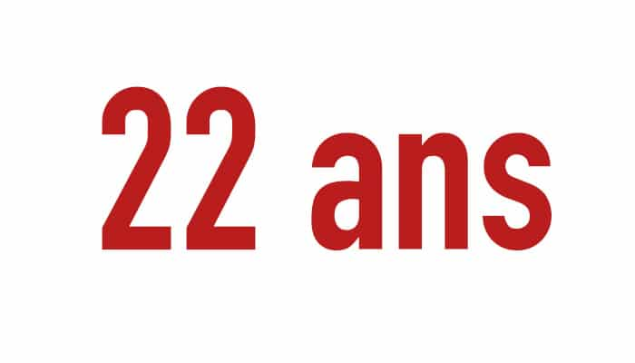22 ans