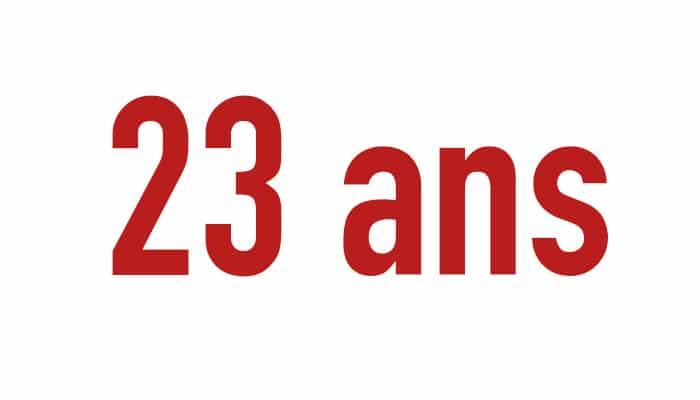 23 ans