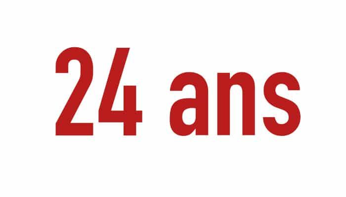 24 ans