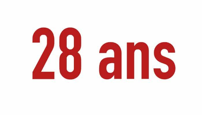 28 ans et +