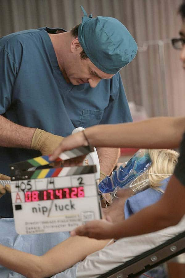 Nip Tuck coulisses tournage