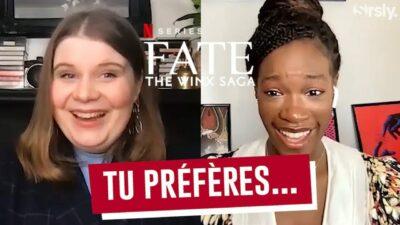 Winx : notre interview 'tu préfères' d'Eliot Salt (Terra) et Precious Mustapha (Aisha)