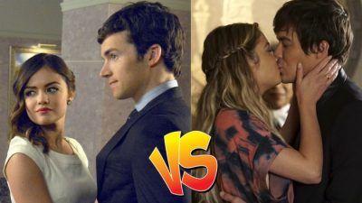 Sondage : match ultime, tu préfères Aria/Ezra ou Hanna/Caleb dans Pretty Little Liars ?