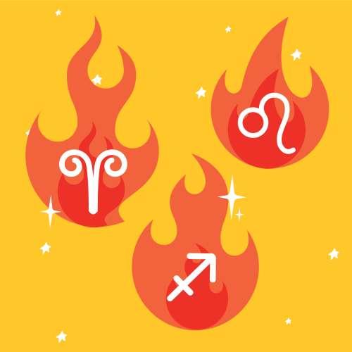 Signe de feu (Bélier, Lion et Sagittaire)