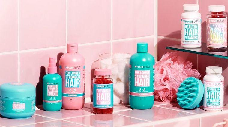 soins cheveux hairburst salle de bain