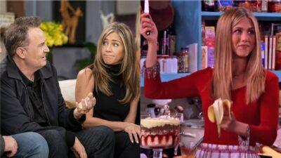 Friends : Jennifer Aniston goûte le diplomate de Rachel dans une scène coupée de la réunion