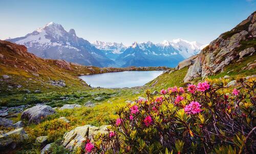 Dans les montagnes.