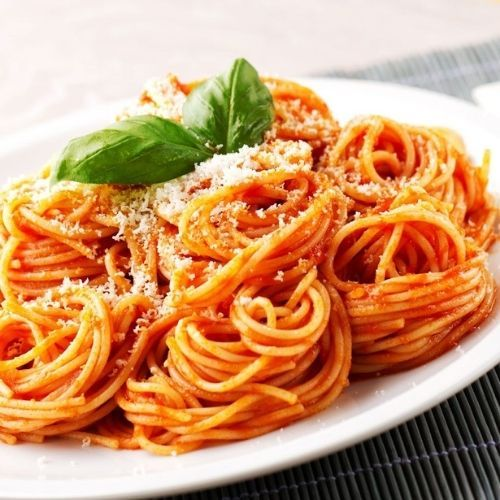 Des spaghettis