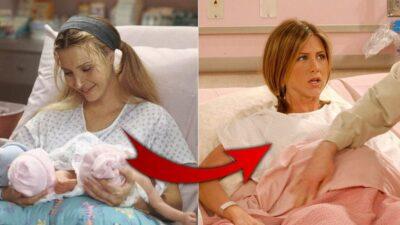 Friends : ce drôle de détail qui lie les accouchements de Rachel et Phoebe